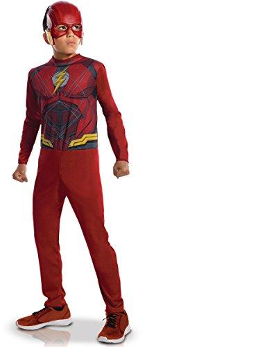 üm für Kinder Lizenzprodukt Rot (Flash Kostüm)