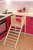 Küchen-Tritthocker, Leiterhocker, Kletterleiter für Kleinkinder, Leiterhocker mit Sicherheitsbügel, für Kleinkinder ab 12 Monaten