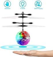 FEALING RC Flying Ball, avión de Juguete, helicóptero de inducción infrarroja, dron de Carga USB con luz LED B