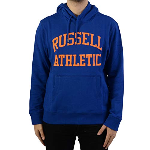 Russell Athletic Herren Hoody Kapuzen Pullover A90041 (S, Blue) - Athletic Pullover Hoody