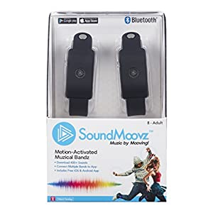 SoundMoovz - Set de 2 pulseras Muzic By Mooving para crear y componer sonidos y música, color negro (Fábrica de Juguetes 41238)