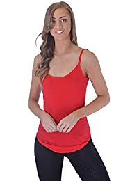 1759294b58875 Mymixtrendz® Womens Ladies Curved Hem Strappy Sleeveless Gym Sports  Camisole Vest Tank Top
