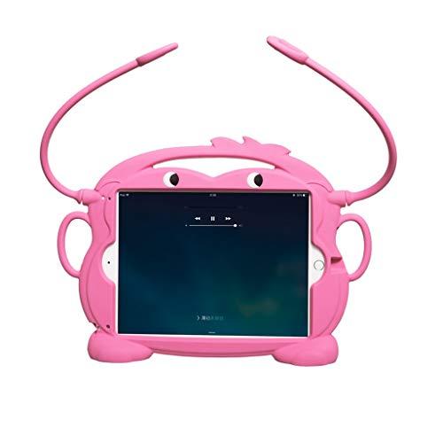 TianranRT Kind freundlich tragen Fall waschbar Silikon Fall für iPad/iPad Luft 9 7 Zoll (Rosa) -