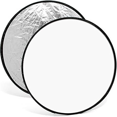 Parasols Blanc - igadgitz 60cm 2 en 1 Réflecteur de