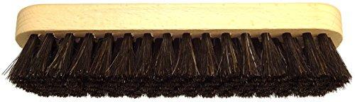 DELARA Große Glanzbürste aus Holz mit Griffkehlen; weiche, hochwertige Rosshaar-Borsten; Farbe:...