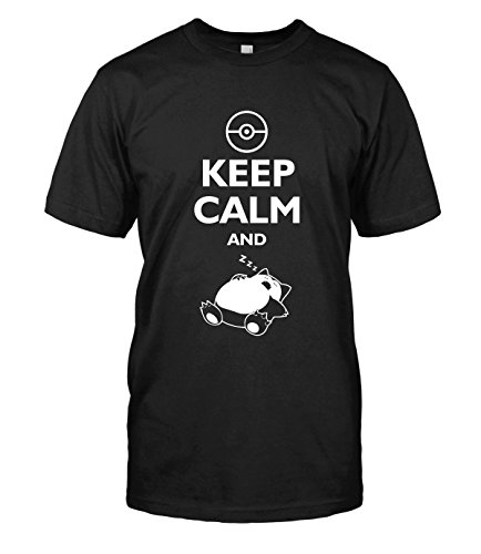 Pokemon-T-shirt-Keep-Calm-and-Sleep-Snorlax-Nintendo-Super-Mario-Top-Tee