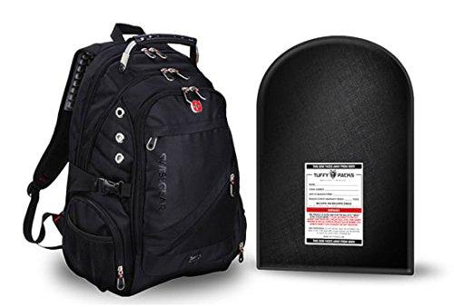 SwissGear Rucksack + Entfernbare kugelsichere Körperrüstung. NJ Level IIIa derzeit höchste persönliche Sicherheit, wird den Benutzer gegen halbautomatischen Schüsse einschließlich 44 Magnum schützen. -