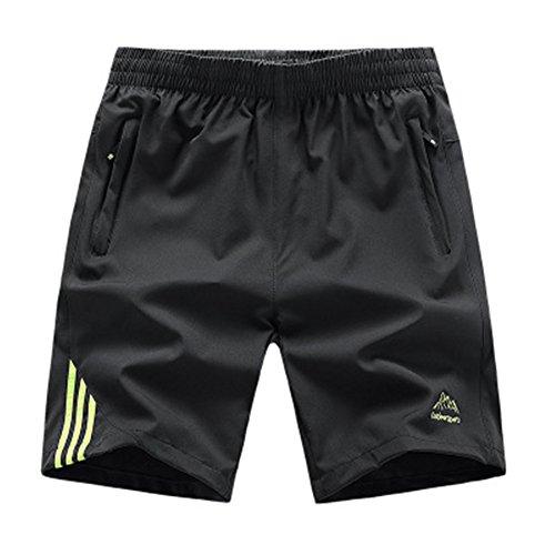 Qingxian Pantalón Corto - para Hombre Gris Oscuro S