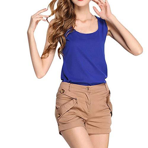 Watopi Frauen lässig sexy Tank Top Chiffon ärmelloses Crop Top Weste T-Shirt Bluse Shirt Kami Top