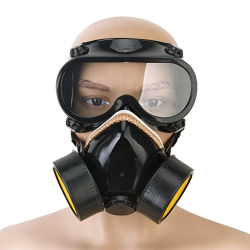 Price comparison product image REALPACKÂ MAX PROTECTION FACEPIECE INDUSTRIAL CHEMICAL GAS ANTI-DUST SPRAY PAINT DUAL RESPIRATOR FACE MASK WITH GOGGLES NEW HALF PRICE FREE FAST DELIVERY