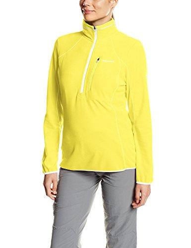Pro Lite Damen Half Zip Microfleece Top–Citronella, Größe 12 (Microfleece Pullover Zip Half)