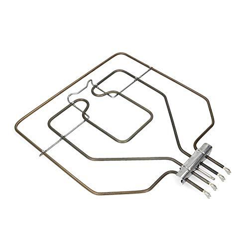 Calefacción superior Elemento calefactor Parrilla Radiador 2800W 230V Horno Cocina para Bosch 00470845 EGO 20.41384.000