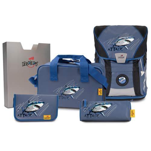 DerDieDas, Schultaschen-Set Blau blau