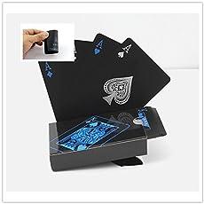 Pumpumly Waterproof PVC Playing Cards Set (Black) - Pack of 54