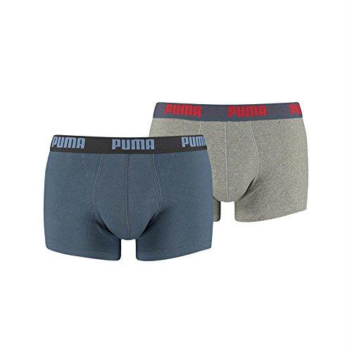PUMA Herren Boxershorts, 4er Pack Trunks (X-Large, vintage indigo) (Kürzer Stretch-körper)