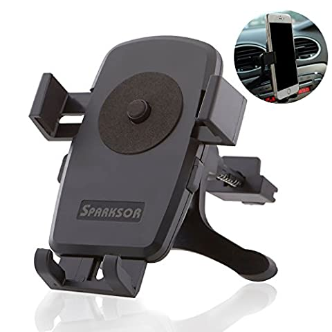SPARKSOR Universal Air Vent Phone Holder Adjustable Car Cradle,Car Mount With One Button Release and 360 Degrees Ratation for iPhone 7/7 Plus/6/6s Plus/5S,LG,Sony,HTC,Huawei and Other Mobile