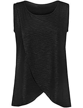 Hellomiko T-Shirt da Allattamento per Allattamento al Seno T-Shirt da Donna Maternità Incinta Doppio Strato Senza...