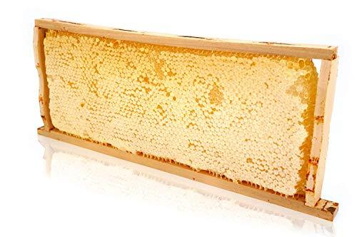 ImkerPur® Wabenstück in Akazien-Honig, 2,2 kg, im traditionellen Holzrähmchen, wertet jedes Buffet auf, nicht nur im Restaurant oder Hotel Wabe