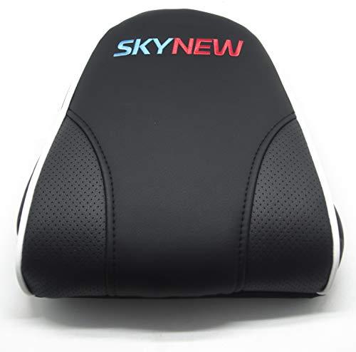 Skynew Schreibtischstuhl/Gaming Stuhl/Bürostuhl/Chefsessel mit Armlehnen, hochwertig Kunstleder, Sportsitz inklusiv Kissen (Zubehör, XL-Kopfkissen Weiß)