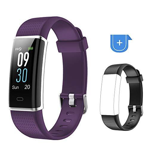 Willful Fitness Armband mit Pulsmesser,Wasserdicht IP68 Fitness Tracker Farbbildschirm FitnessUhr Aktivitätstracker Schrittzähler Uhr Smartwatch Damen Herren Anruf SMS Beachten für iOS Android Handy -