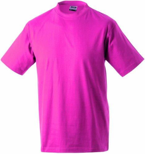 James & Nicholson Herren Komfort T-Shirt Rundhals Rosa (Pink)