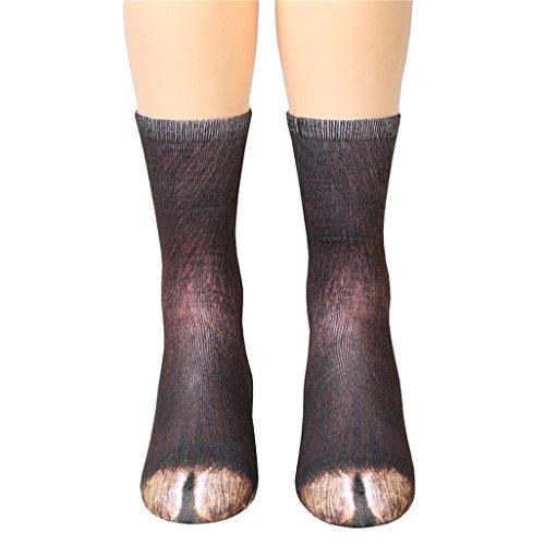 Vovotrade Strumpfhose Overknee mit roten Schleifen 6-12 Jahre alte Kinder / Frau Mann Erwachsene Unisex Tier Pfote Crew Socken Sublimiert Drucken (G, Kids) (Schuhe Armee-erwachsene)