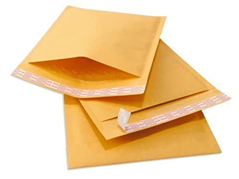 100 x Feather Post EP1 Gold Padded Envelopes - The Standard Paper Padded Envelope With a Self Seal Strip for