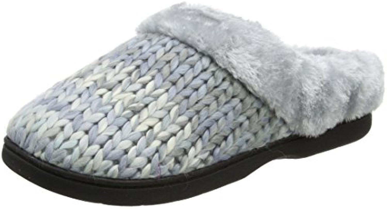 Dearfoams Chunky Space-Dye Knit Clog, Zapatillas de Estar por Casa para Mujer