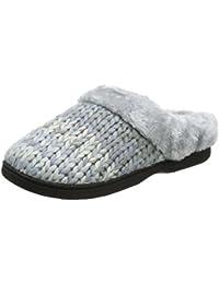 b4682a80 Dearfoams Chunky Space-Dye Knit Clog, Zapatillas de Estar por Casa para  Mujer