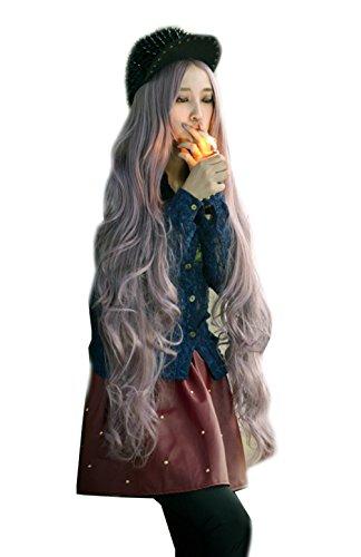 Photo Pal 100cm Cosplay Perruque Femme Longue Ondulée Cheveux Synthétiques Halloween Soirée Déguisem