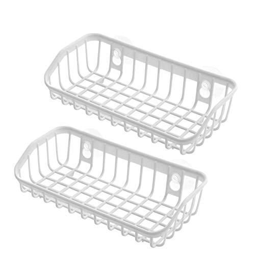 Kitchen Sink Badezimmer Wand hängende Aufbewahrung Rack Organizer Kunststoff Wasser Trocknen abtropfen Storage Rack weiß -