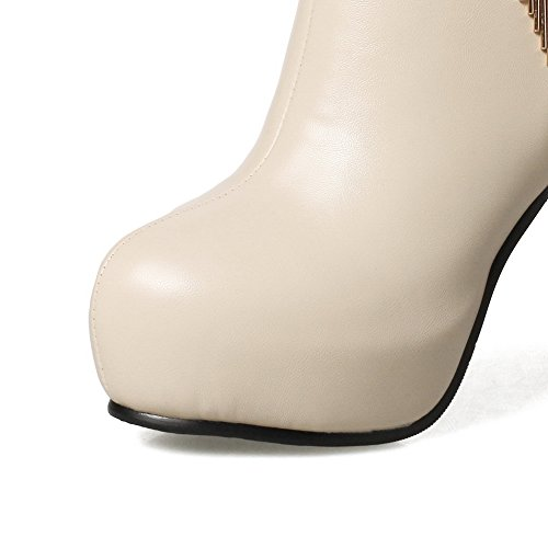 Balamasaabl09526 - Sandales Avec Wedge Femme Abricot