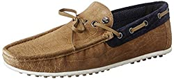 Carlton London Mens Pancho Tan Leather Loafers and Moccasins - 9 UK/India (43 EU)