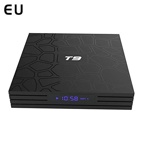 SH-Flying TV-Box, T9 Android 8.1 Set-Top-Box, 8-Core Set-Top-Box 4 + 32 RK3328 TV-Box Integriertes 2,4-GHz-WLAN, 4K 3D-UHD-Web-TV-Box