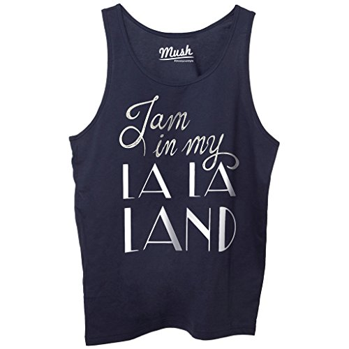 Canotta I AM IN MY LA LA LAND - FILM by Mush Dress Your Style Blu navy