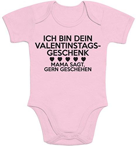 nstagsgeschenk Lustiges Geschenk Mann Baby Body Kurzarm-Body Newborn Rosa (Süßes Paar Onesies)