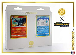 Démolose (Houndoom) 46/214 Y Polagriffe (Beartic) 62/214 - #tooboost X Soleil & Lune 8 Tonnerre Perdu - Box de 10 Cartas Pokémon Francés + 1 Goodie Pokémon