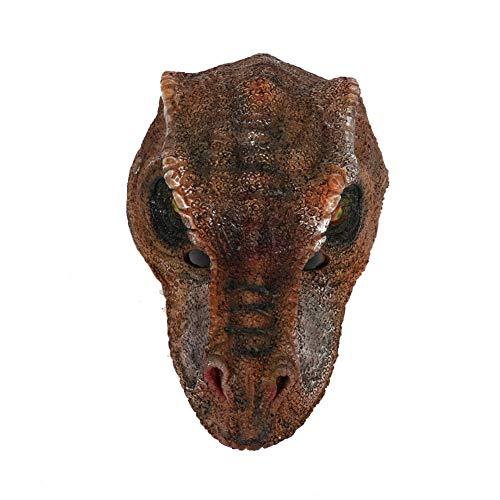 Story of life Dinosaurier Maske, Erwachsenen Gesichtsmaske Deluxe Neuheit Halloween Kostüm Party Tierkopf Maske Kostümzubehör,Brown (Story Erwachsene Für Halloween-kostüme Toy)