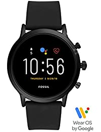 Fossil Herren Digital Touchscreen Gen.5 Smart Watch mit Silicone Armband, FTW4025