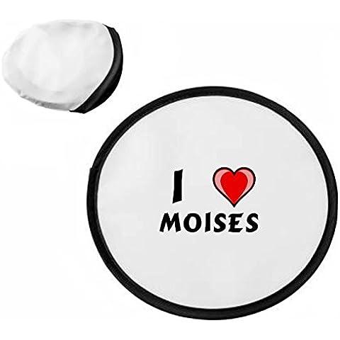 Disco volador personalizado (frisbee) con Amo Moises (nombre de pila/apellido/apodo)