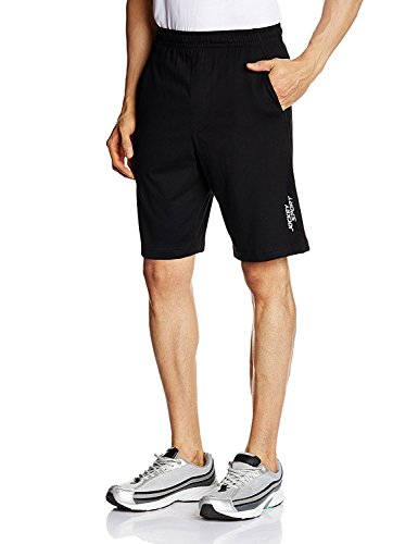 Jockey Men's Relaxed Fit Cotton Shorts (SP26_Black_XX-Large)