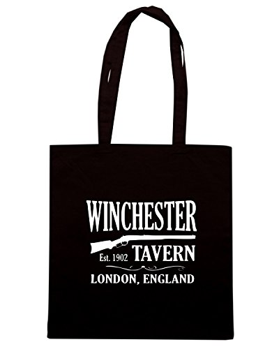 T-Shirtshock - Borsa Shopping OLDENG00725 winchester tavern shaun of the dead Nero