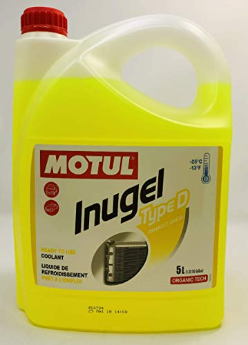 MOTUL Antifreeze Special Coolant Engine Renault Inugel Type D, 5 liters