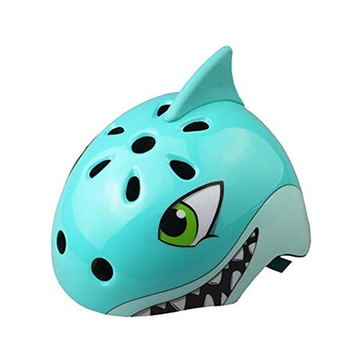 Casco da ciclismo per bambini, casco da esterno, casco di sicurezza per bambini, casco da pattinaggio a rotelle, blue, S(50