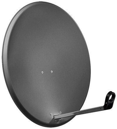 Goobay SAT Spieg. 65er Alu antenna per satellite 10,7-12,75 GHz Antracite