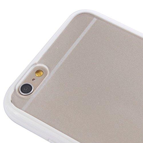 Wkae Case Cover TPU Auto Frame + Kunststoff zurück Fall für iPhone 6 Plus &6S plus ( Color : White ) White