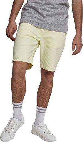 Urban Classics Herren Shorts Stretch Twill Men, Gelb (Powder Yellow 01323), (Herstellergröße: 38)