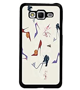 PrintDhaba Sandals D-2643 Back Case Cover for SAMSUNG GALAXY GRAND PRIME (Multi-Coloured)