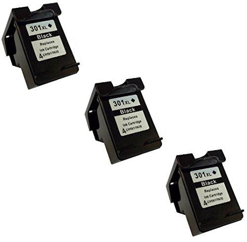 Prestige Cartridge HP 301XL 3 Cartucce d'Inchiostro Compatibile per Stampanti
