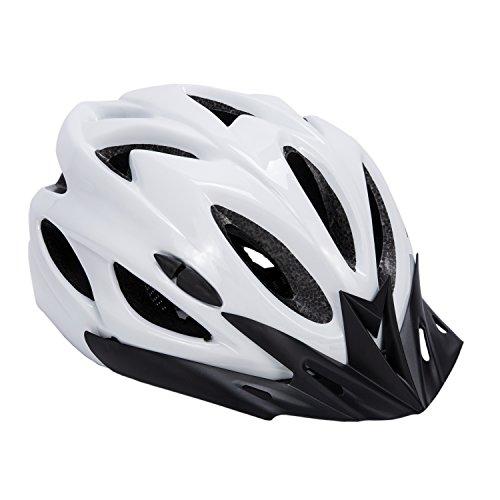Babimax Fahrradhelm Erwachsene 56-63cm EPS Herren und Frauen Mountainbike Radsport (Weiß und Schwarz)